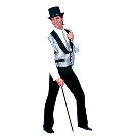 Funny Fashion Disco gilet zilver heren