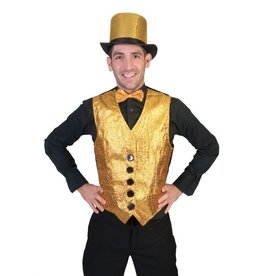 Funny Fashion Show Biz gilet goud heren