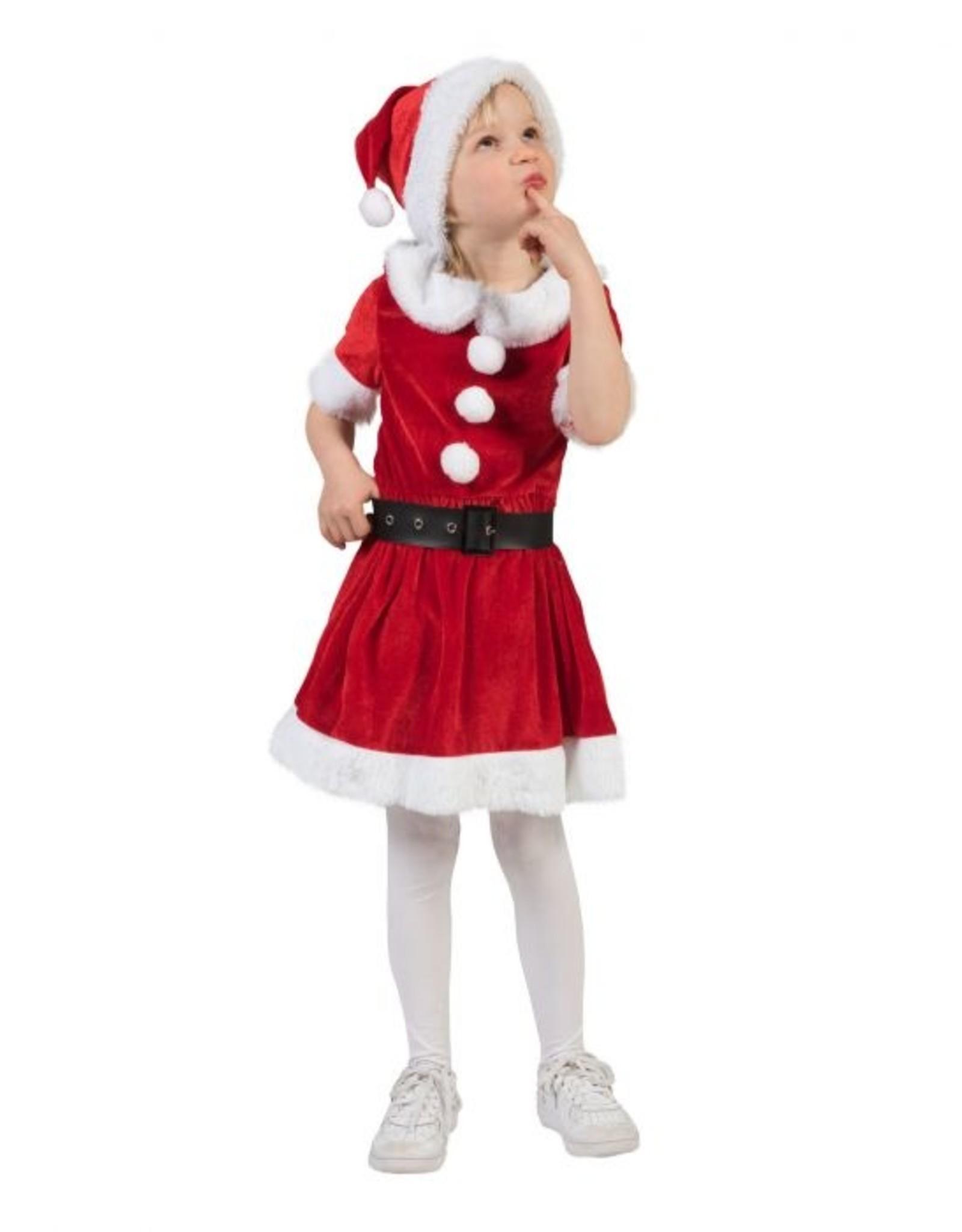 Funny Fashion Kerst meisje Carol rood