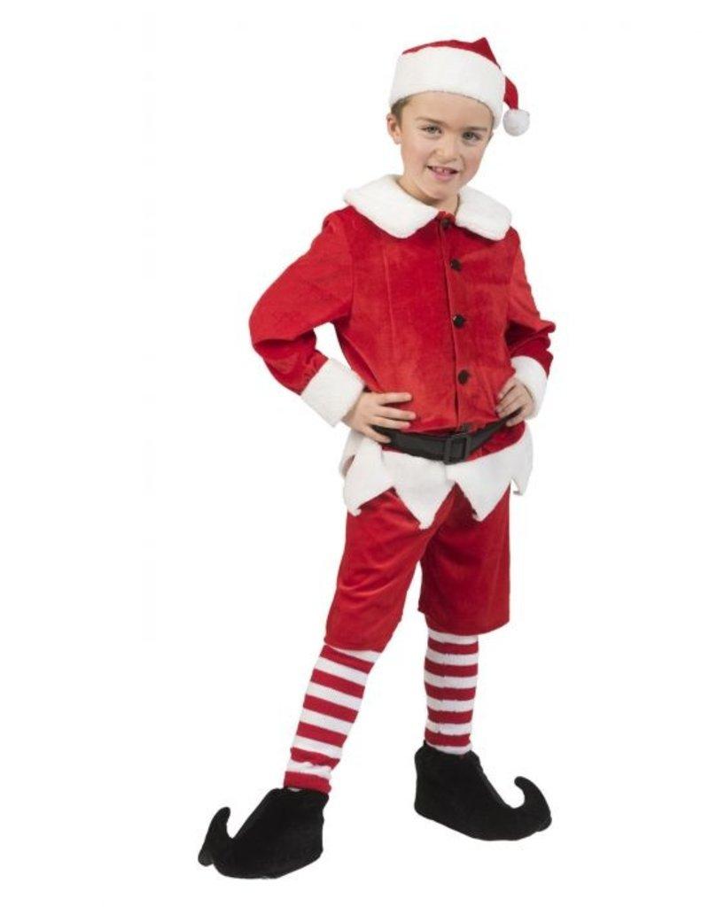 Funny Fashion Elf kostuum rood Kerstmis kind