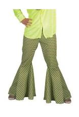 Funny Fashion Hippie groen  broek met print heren