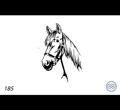 Grafsteenwinkel Afbeelding van een paard teugel
