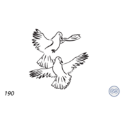 Grafsteenwinkel Afbeelding twee duiven