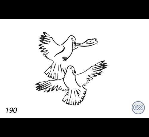 Grafsteenwinkel Afbeelding van twee duiven