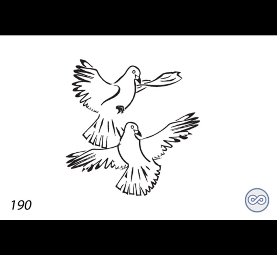 Afbeelding van twee duiven