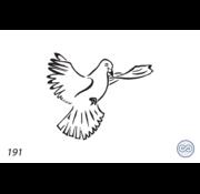 Grafsteenwinkel Afbeelding vliegende duif