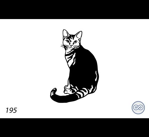 Grafsteenwinkel Afbeelding van een kat