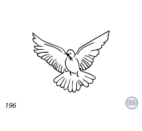 Grafsteenwinkel Afbeelding van een vogel