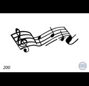 Grafsteenwinkel Afbeelding muzieknoten