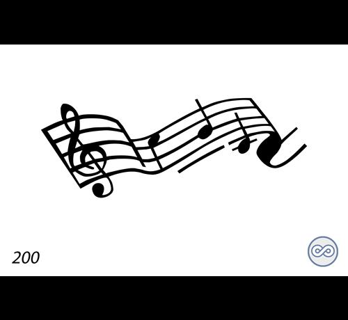 Grafsteenwinkel Afbeelding van muzieknoten