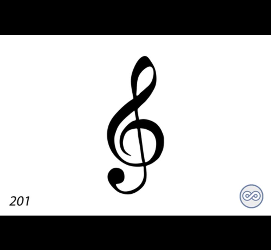 Afbeelding van een g-sleutel