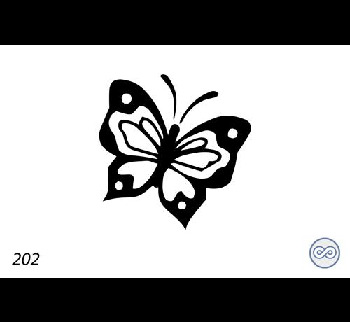 Grafsteenwinkel Afbeelding van een vlinder