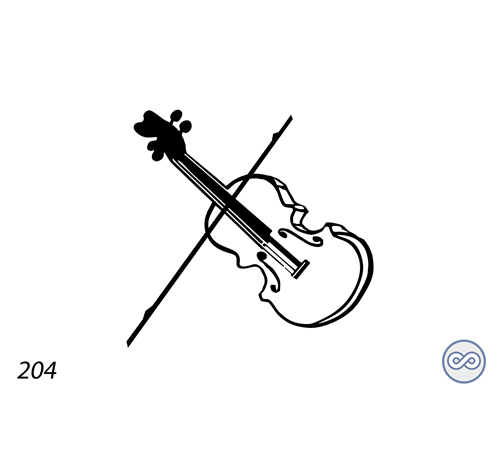 Grafsteenwinkel Afbeelding van een viool
