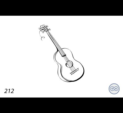 Grafsteenwinkel Afbeelding van een gitaar