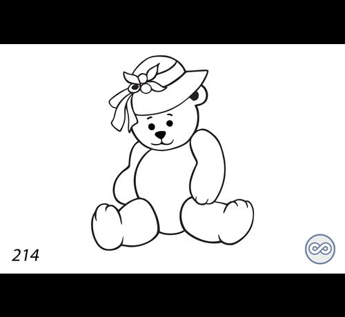 Grafsteenwinkel Afbeelding van een beer met hoed