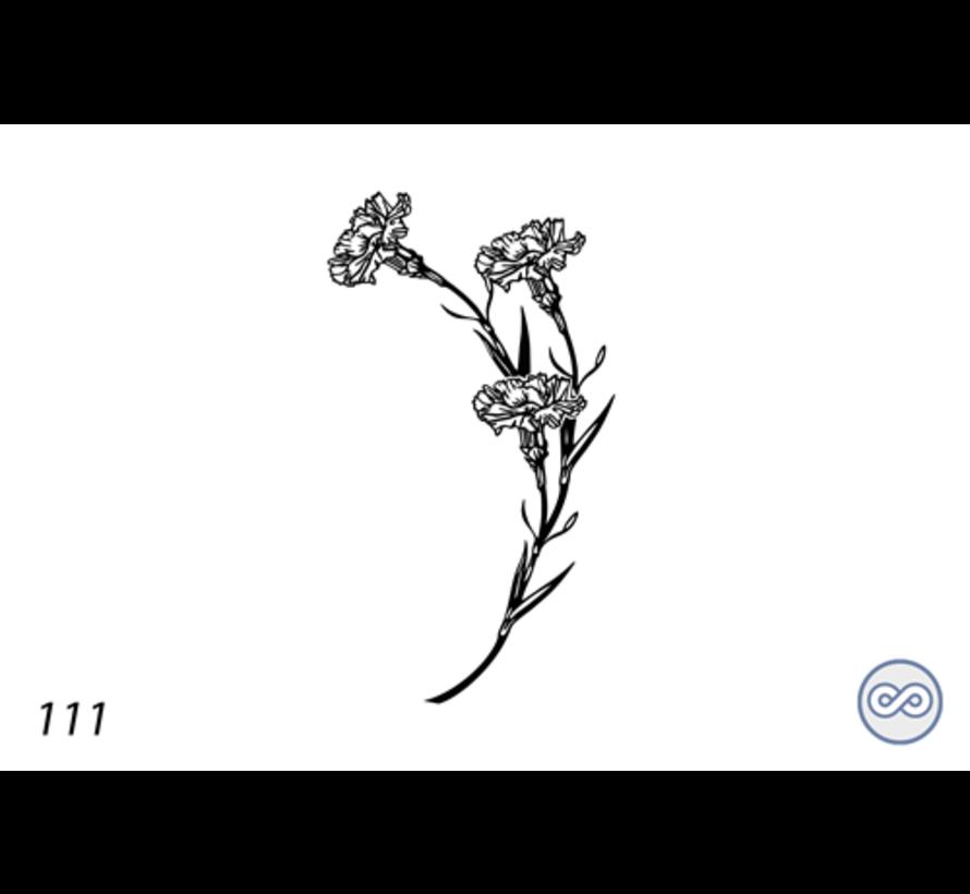 Afbeelding bloem op grafsteen