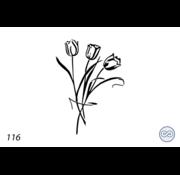 Grafsteenwinkel Afbeelding tulpen