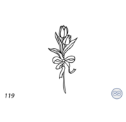 Grafsteenwinkel Afbeelding tulpen met strik