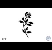 Grafsteenwinkel Afbeelding roos met bladeren