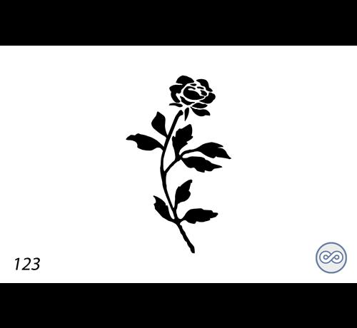 Grafsteenwinkel Afbeelding roos met bladeren voor op grafsteen