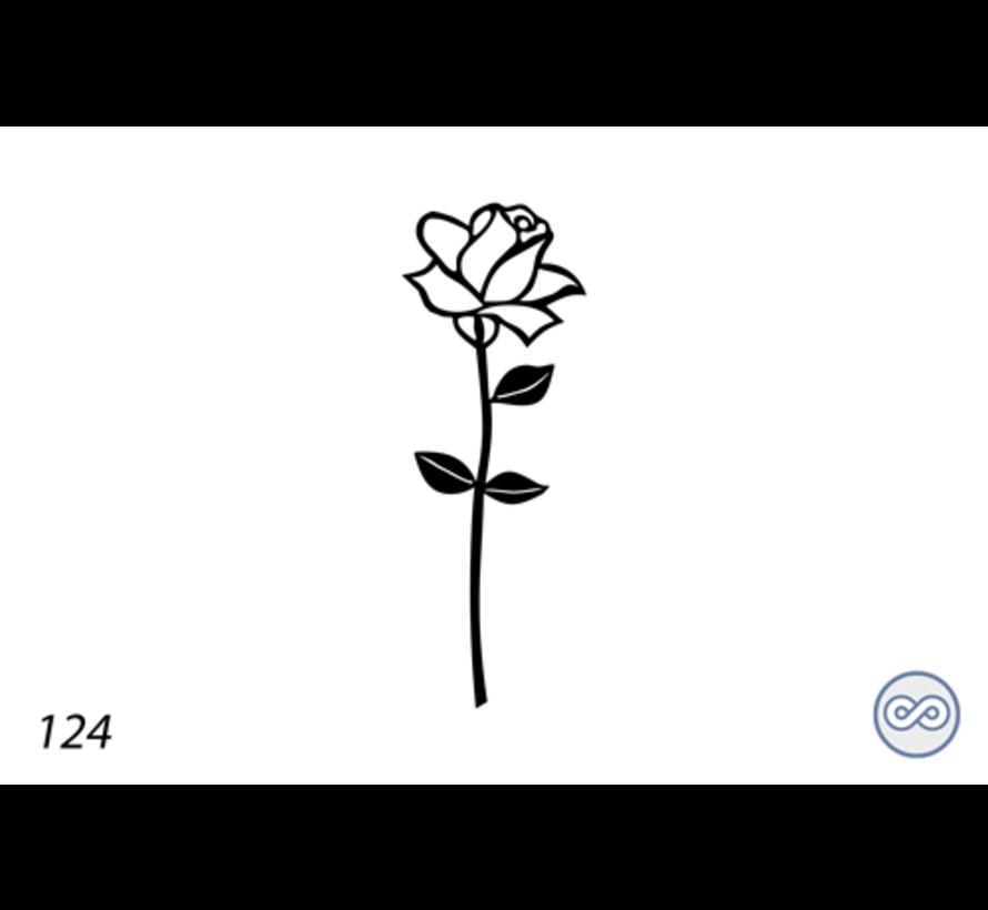 Afbeelding roos avelanche voor op grafsteen