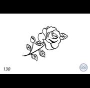 Grafsteenwinkel Afbeelding roos lijnen