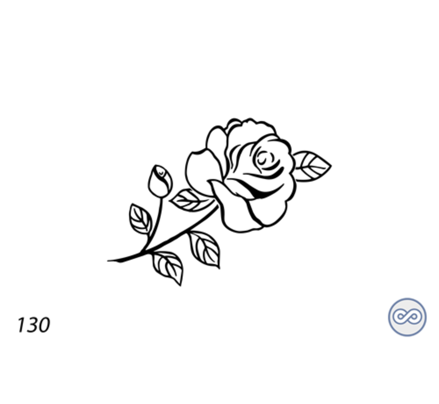 Afbeelding bloem voor op grafsteen