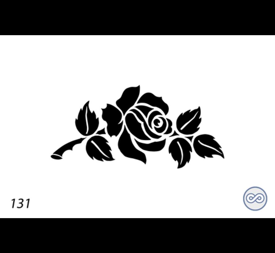 Afbeelding roos vol voor op grafsteen