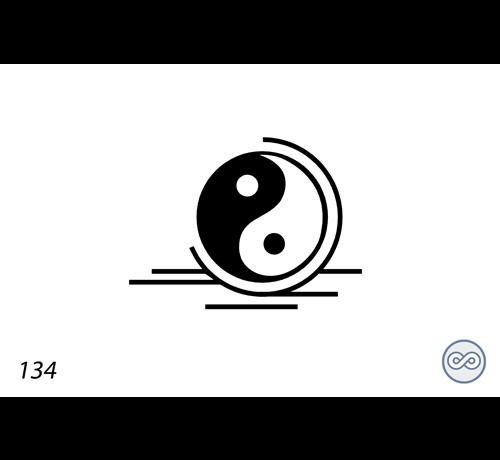 Grafsteenwinkel Afbeelding yin en yang voor op grafsteen