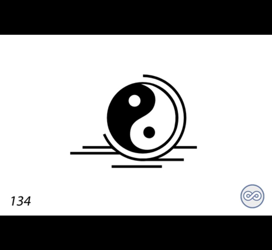 Afbeelding yin en yang voor op grafsteen