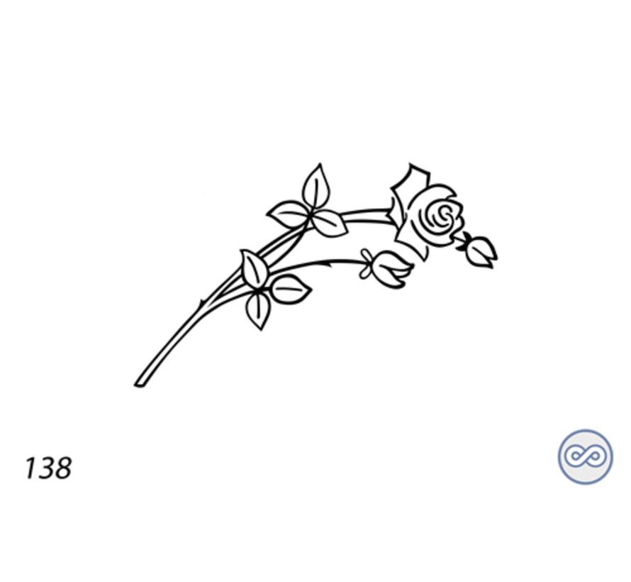 Afbeelding roos fairy voor op grafsteen