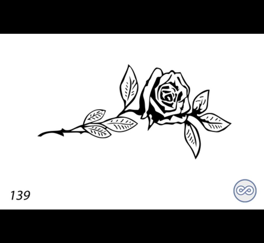 Afbeelding roos sophia voor op grafsteen