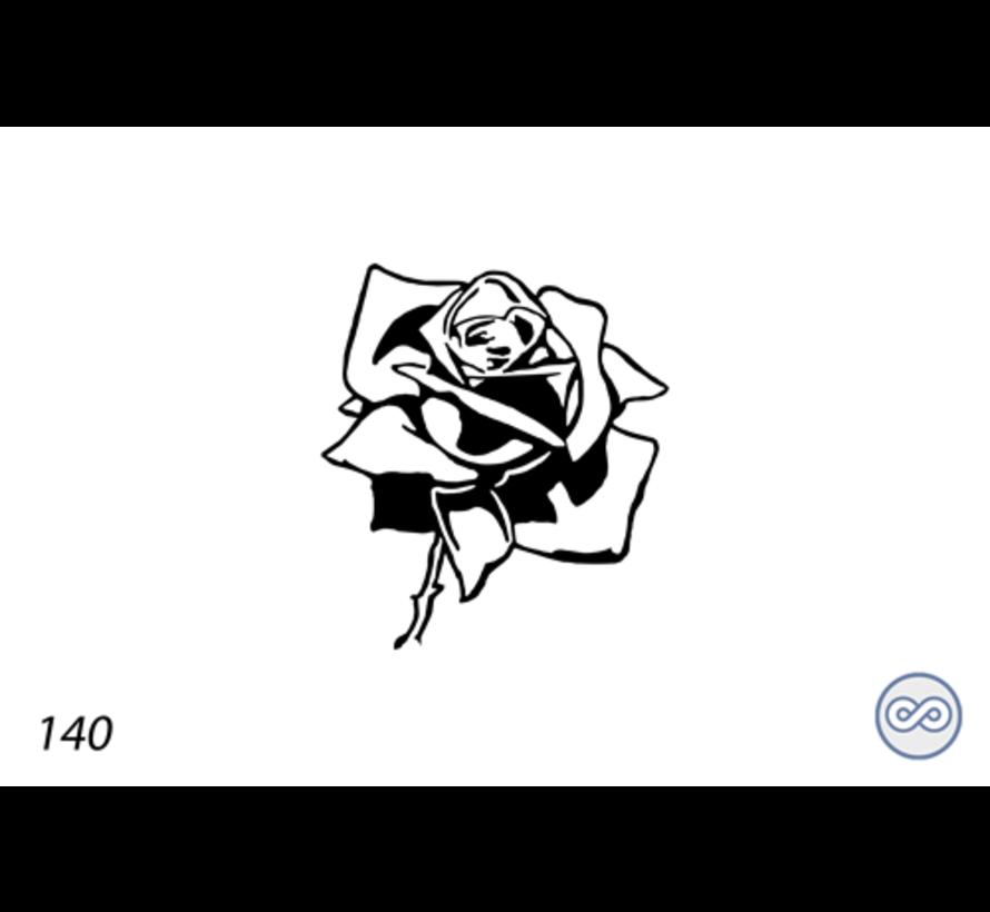 Afbeelding baccara roos voor op grafsteen