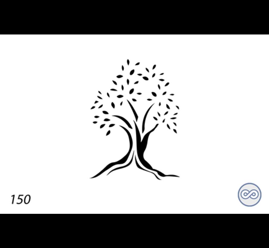 Afbeelding olijfboom voor op grafsteen
