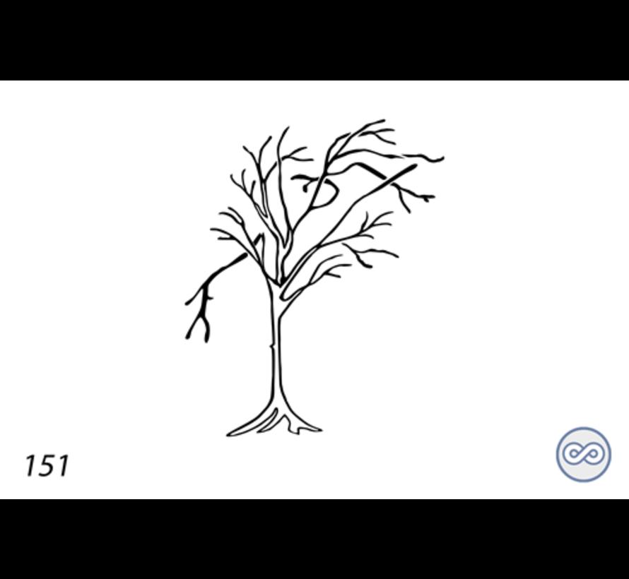 Afbeelding boom voor op grafsteen