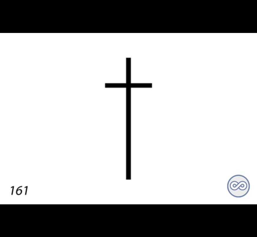 Afbeelding kruis voor op grafsteen