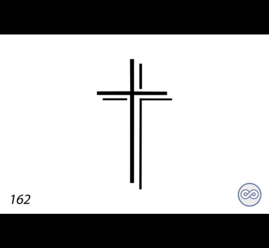 Afbeelding kruis dubbel voor op grafsteen