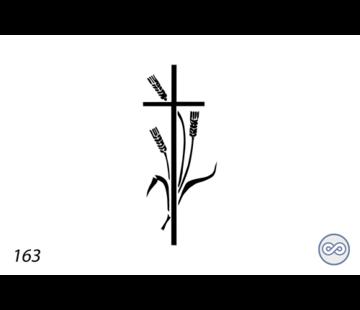 Grafsteenwinkel Afbeelding kruis met korenaren