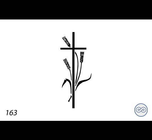 Grafsteenwinkel Afbeelding kruis voor op grafsteen