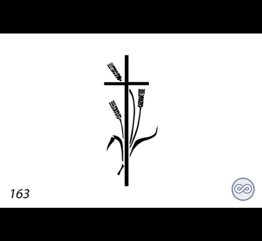 Afbeelding kruis met korenaren