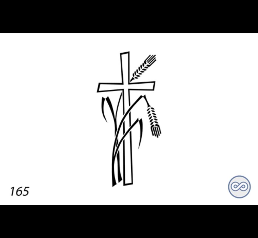 Afbeelding kruis met gebroken aren