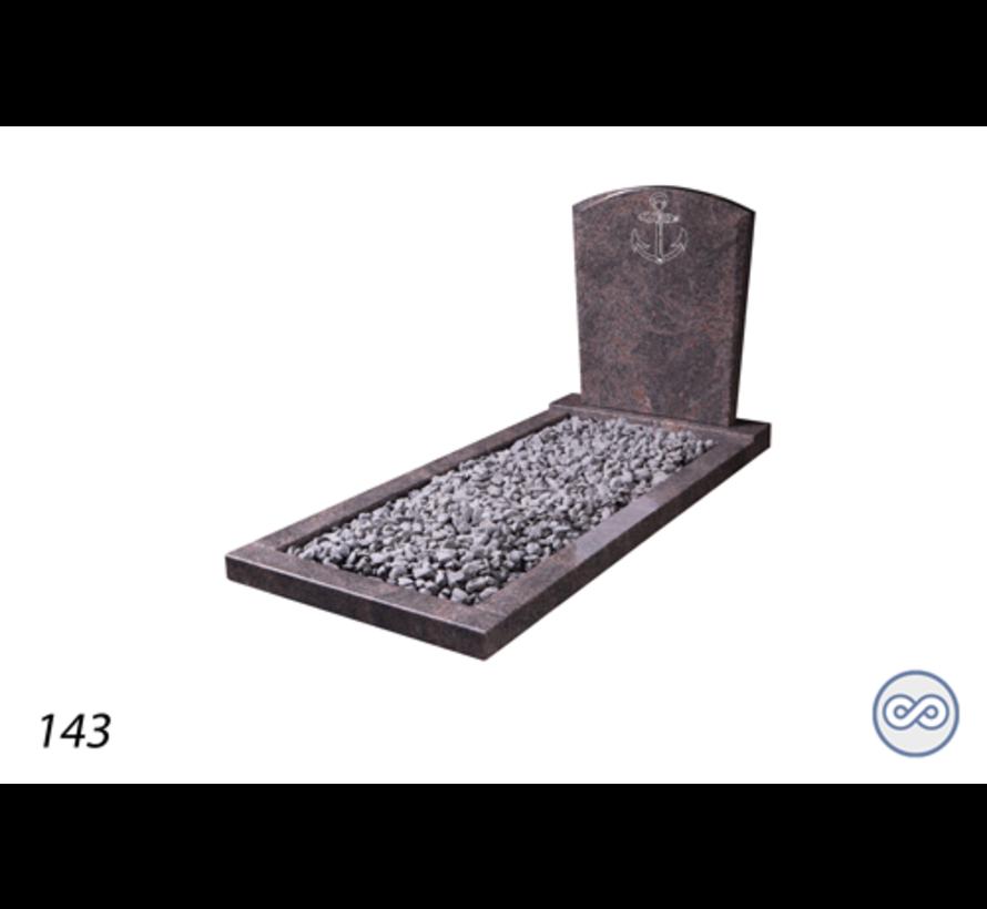 Afbeelding anker zekerheid voor op grafsteen