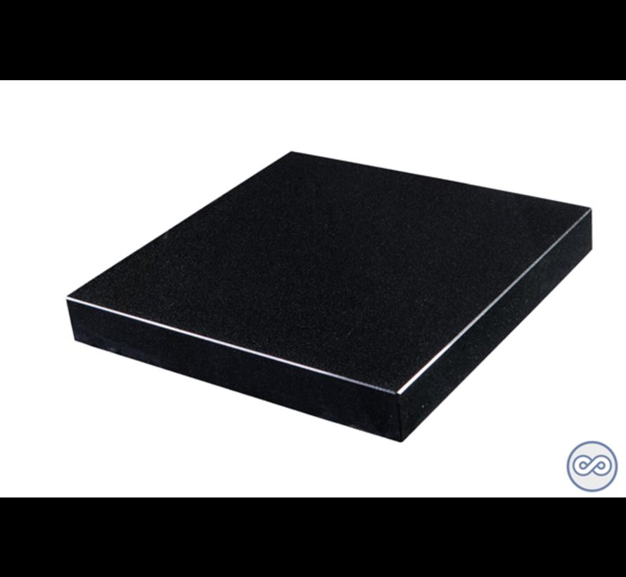 Liggende grafsteen, Zwart Graniet  voor een algemeen graf