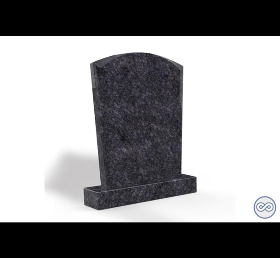 Staande grafsteen model 'Toog' letterplaat in de kleur Steel Grey