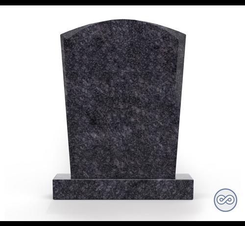 Grafsteenwinkel Staande grafsteen model 'Toog' letterplaat in de kleur Steel Grey