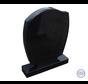 Moderne zwart staande steen