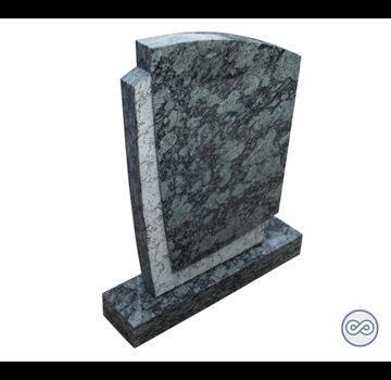 Grafsteenwinkel Groen/zwarte staande grafsteen