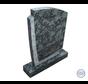 Groen/zwarte staande grafsteen