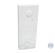 Grafsteenwinkel Staande witte steen
