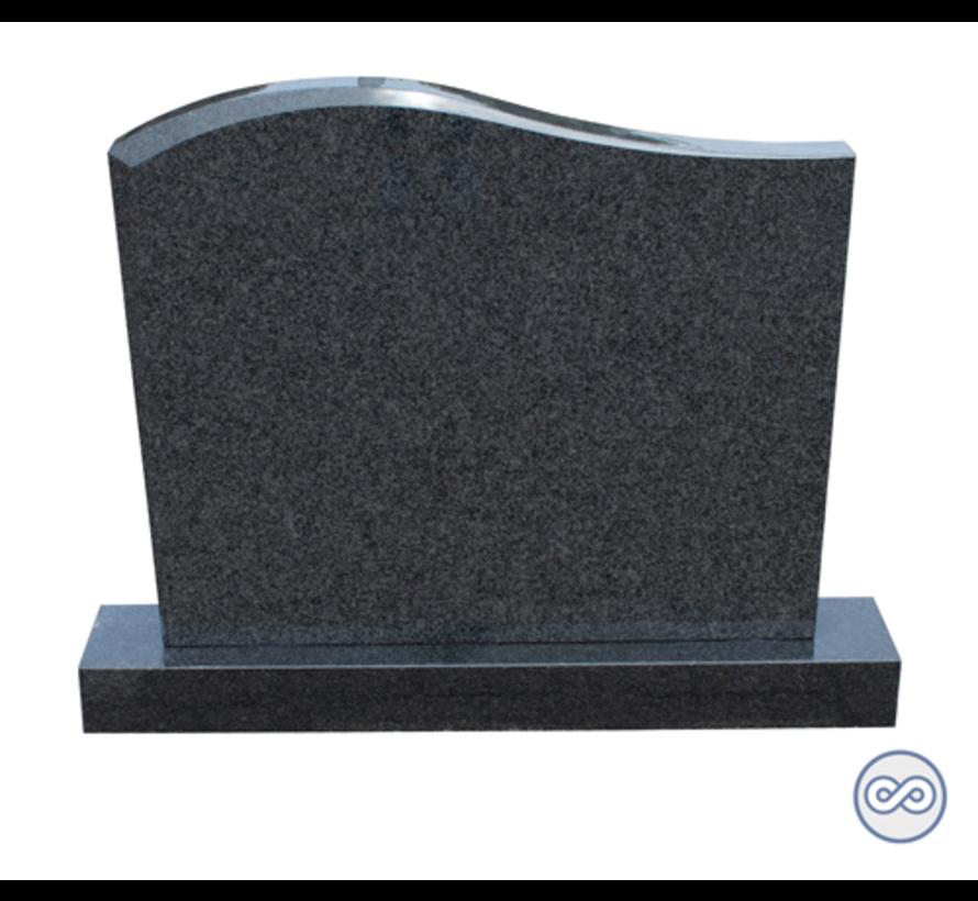 Zwarte steen op voetstuk